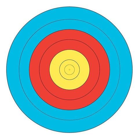 Мишень для стрельбы из лука JVD Target Face Fita 80 cm Centre 6-Ring