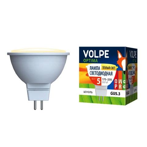 Volpe Лампа LED-JCDR-5W/WW/GU5,3/O Optima (теплый свет)