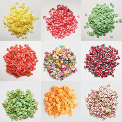 Набор фимо фрукты для слайма 10 шт XL супермикс