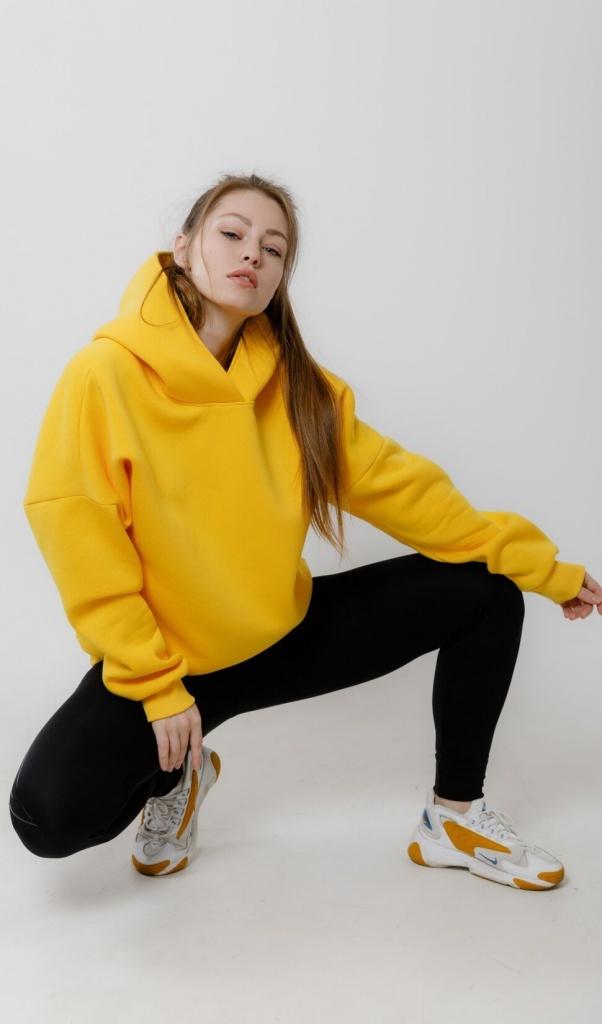 Толстовка Oversize Yellow Fl
