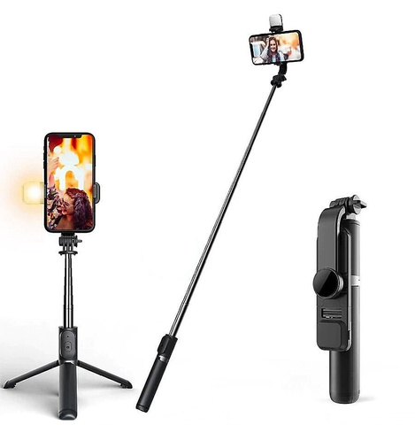 Монопод-штатив для телефона с подсветкой и пультом Bluetooth R7