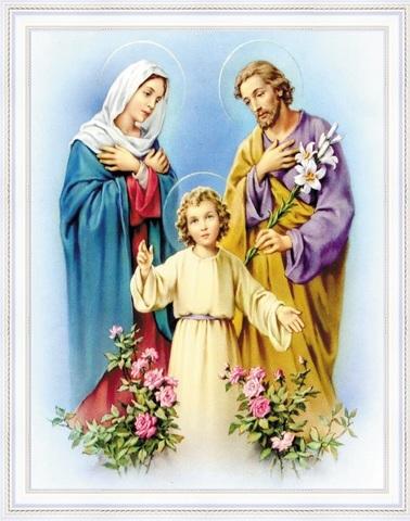 Алмазная Мозаика 40x50 Икона Святое Семейство (арт. HWA2987 )