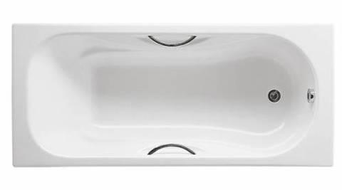 Чугунная ванна Roca Malibu 160x75, с п/ск покрытием, отверстия под ручки