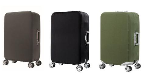 Чехол для чемодана серый размер M