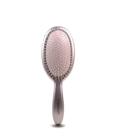 Framar Metallic Detangle Brush - Silver/Распутывающая щетка для волос «Серебро»