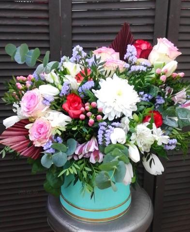 Цветы в шляпной коробке #39295