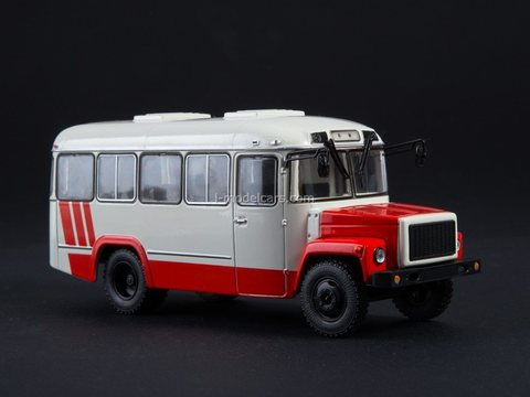 KAVZ-3976 white-red 1:43 Modimio Our Buses #10