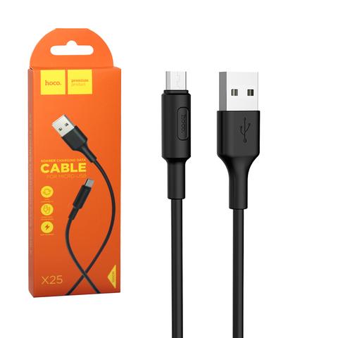 Кабель USB - microUSB 1м Hoco (черный)