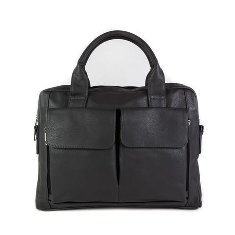 Бизнес-сумка мужская серая 38х28х6 см  COSCET М-МС-36