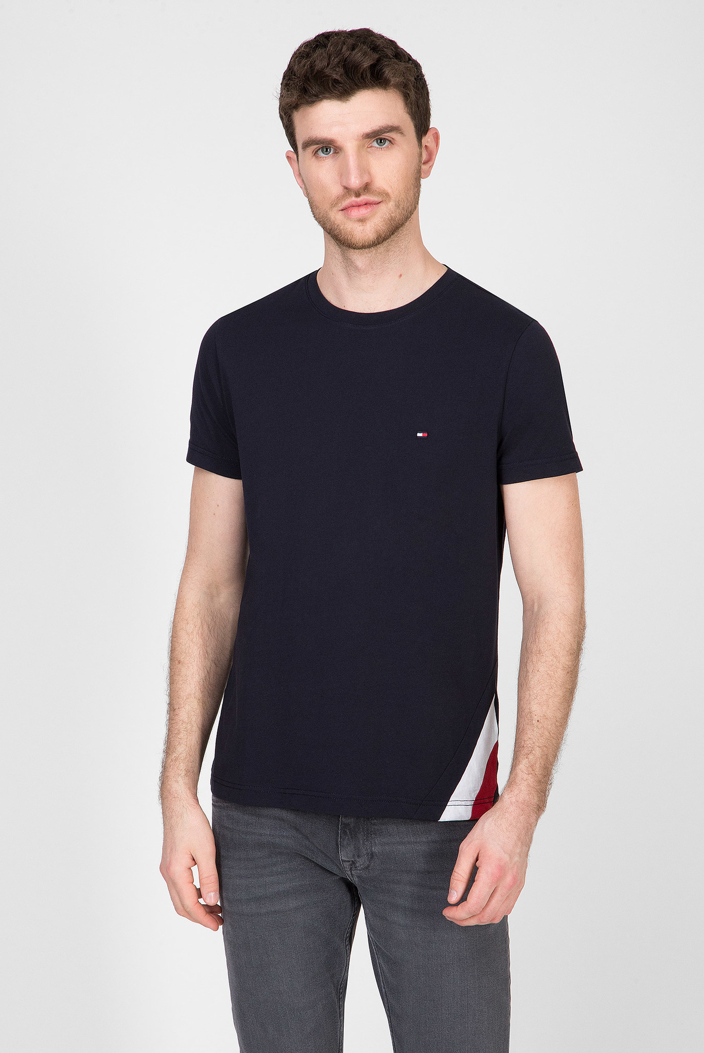 Мужская темно-синяя футболка DIAGONAL GS Tommy Hilfiger