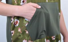 Юна. Жіночий костюм з бриджами батал. Олива.