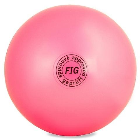 Мяч для худ. гимнастики (15 см, 280 гр)  розов. AB2803