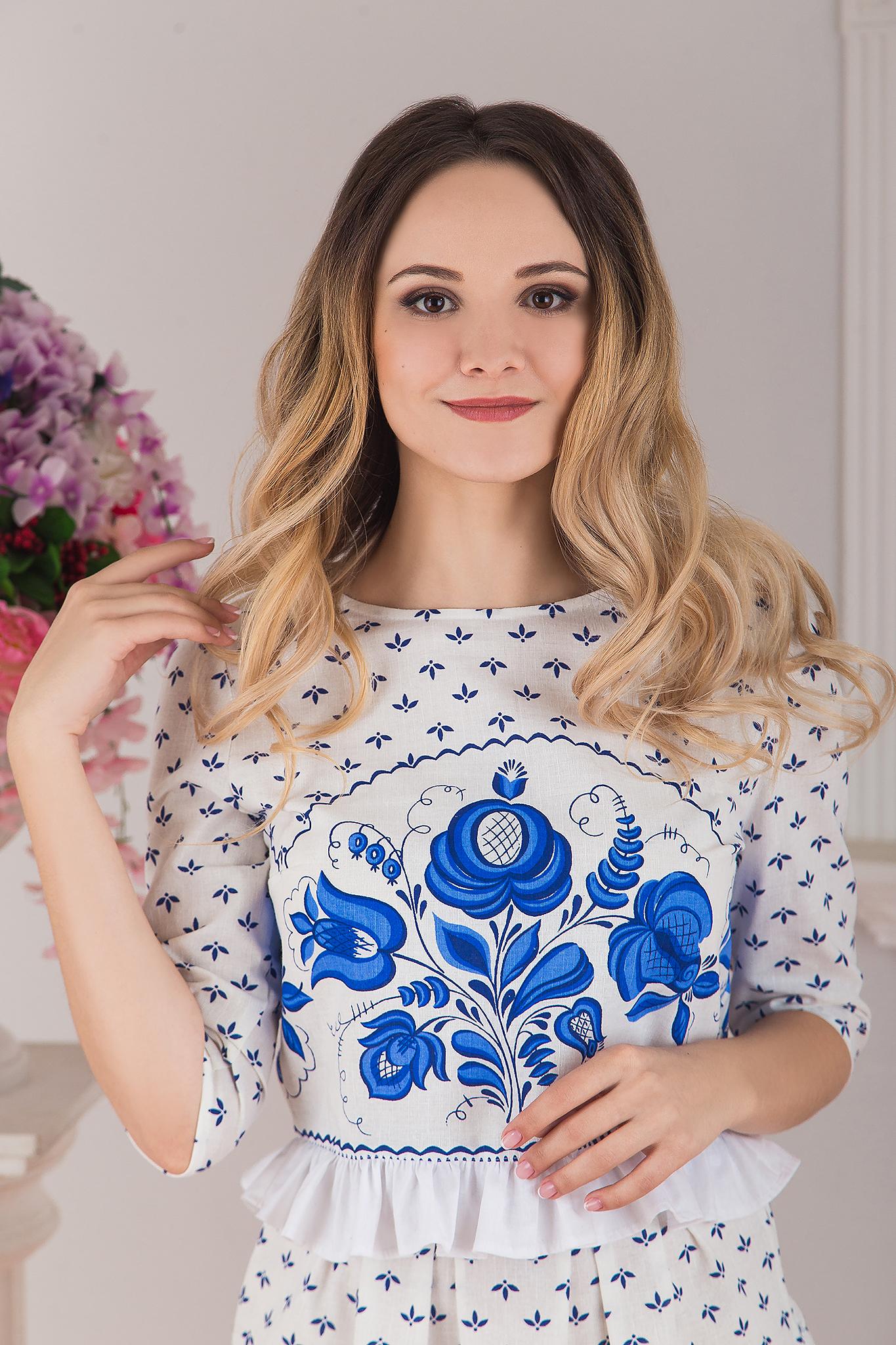 Блуза Гжель