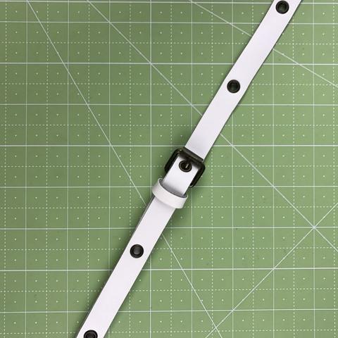 Ремень для сумки  натуральная кожа. Цвет белый. Ширина 15 мм.  Длина регулируется.   Минимальная 85 см