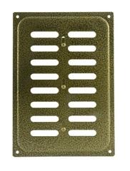 Решетка с заслонкой (заглушкой) 165х240 мм Старая Бронза
