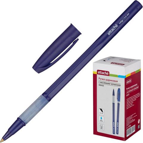 Ручка шариковая Attache Indigo синяя (толщина линии 0.6 мм)