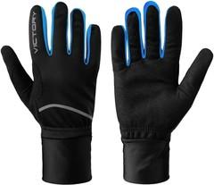 Гоночные перчатки А4, Victory code, unisex, black/blue