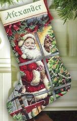 Candy Cane Santa Stocking