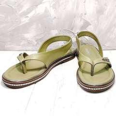 Босоножки сандали женские Evromoda 454-411 Olive.