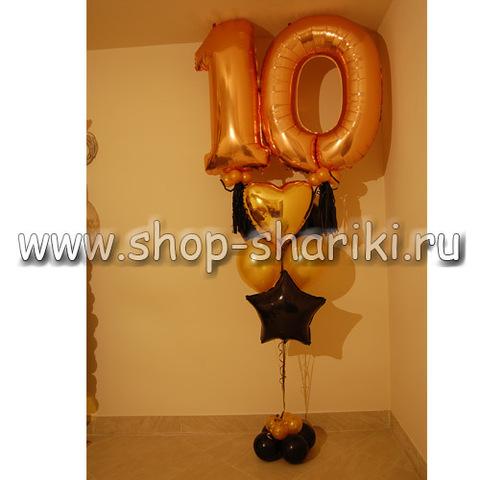 Фонтан из шаров на 10 лет