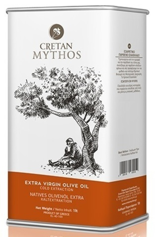 Оливковое масло Cretan Mythos Extra Virgin с острова Крит 1 л жесть