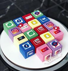 Силиконовая форма для выпечки Кубики CUBO