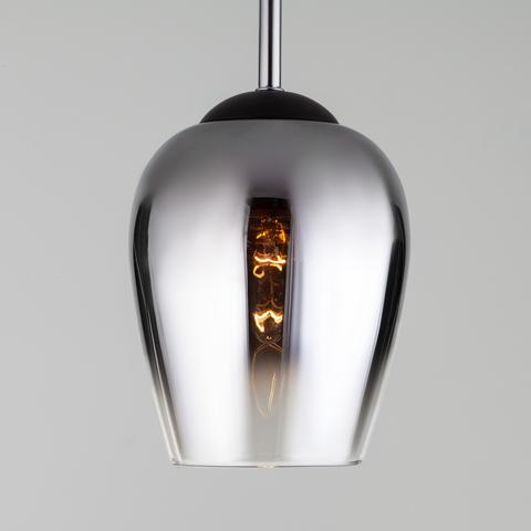 Подвесной светильник со стеклянным плафоном 50086/1 хром