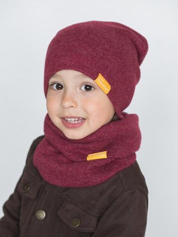 детская шапка из итальянской шерсти ягодная