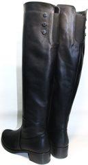 Зимние сапоги черные Kluchini 3913 BLEF