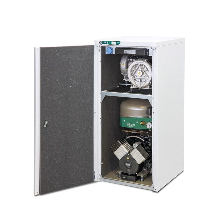 DUO 2 безмасляный компрессор с двумя аспираторами (2 установки) Ekom