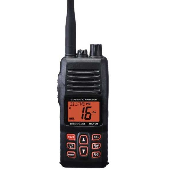 HX400E handheld radio with PMR channels Standard Horizon
