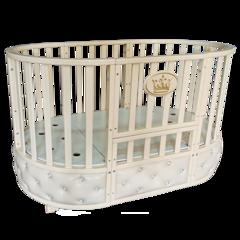 Кровать детская Антел Северянка-4 с мягкой вставкой слоновая кость