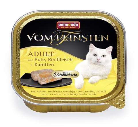 Консервы Animonda Vom Feinsten Adult Меню для гурманов с индейкой, говядиной и морковью для взрослых кошек