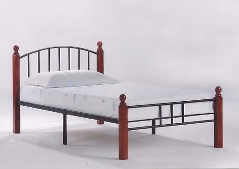 Кровать АТ 915 90х200 красный дуб