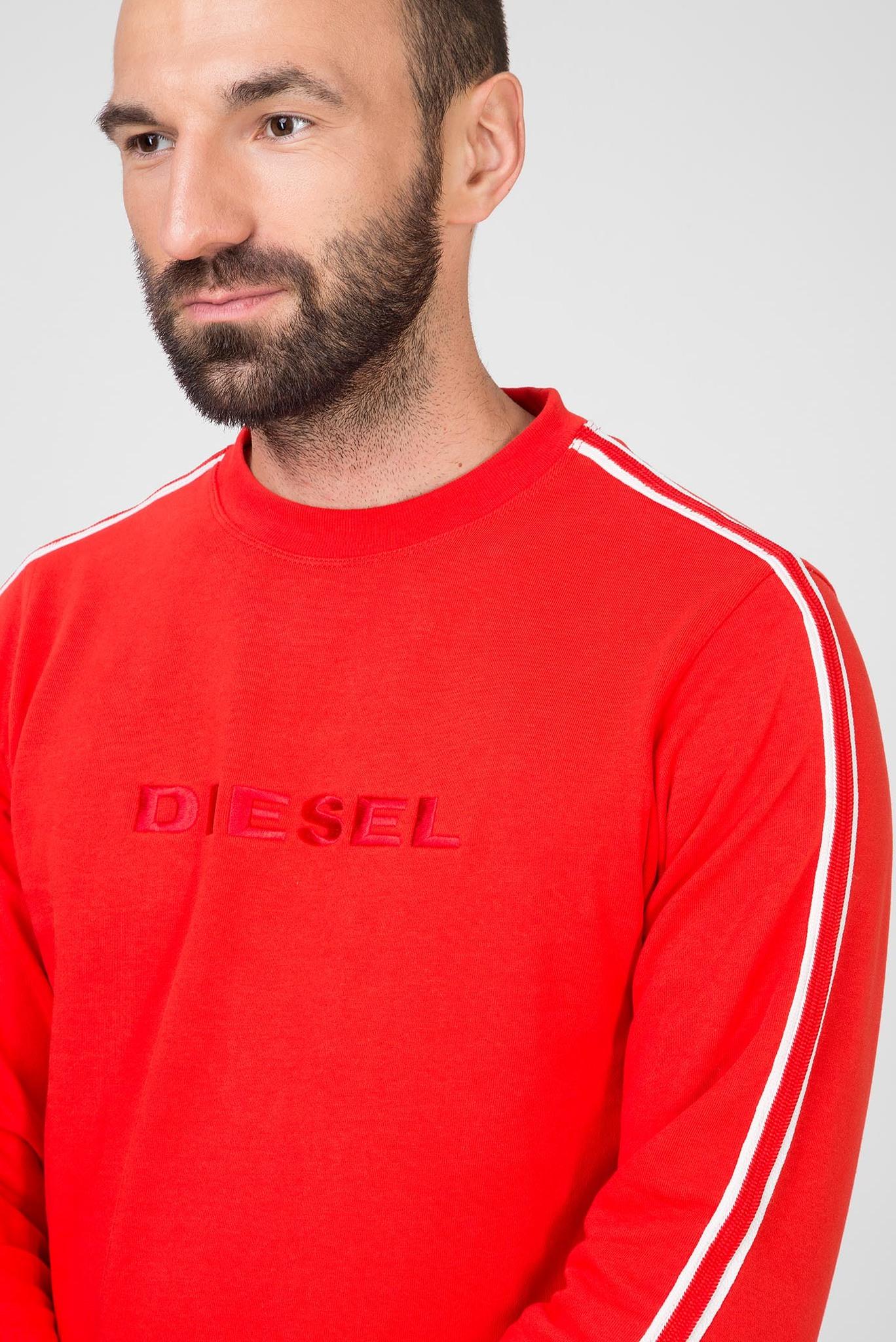 Мужской красный свитшот UMLT-WILLY FELPA Diesel