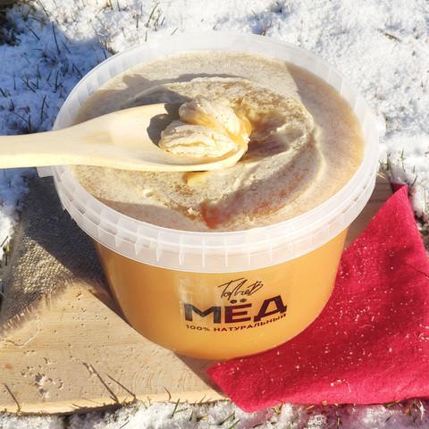 Мёд цветочный начало лета 2020 Казнаковка - Башкирия 3 литра (4,3 кг)