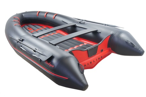 Надувная ПВХ-лодка BADGER Air Line 360, Черный/Красный