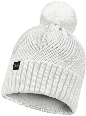 Шапка вязаная с флисом Buff Hat Knitted Polar Raisa White фото 1