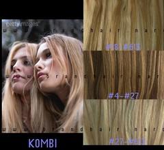 Волосы на заколках #18-#613-мелированные волосы