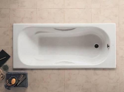 Чугунная ванна Roca Malibu 170x75, с п/ск покрытием, без ручек