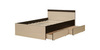 Кровать «Ольга-13»  900 (венге/млечный дуб), ЛДСП, Фант-мебель