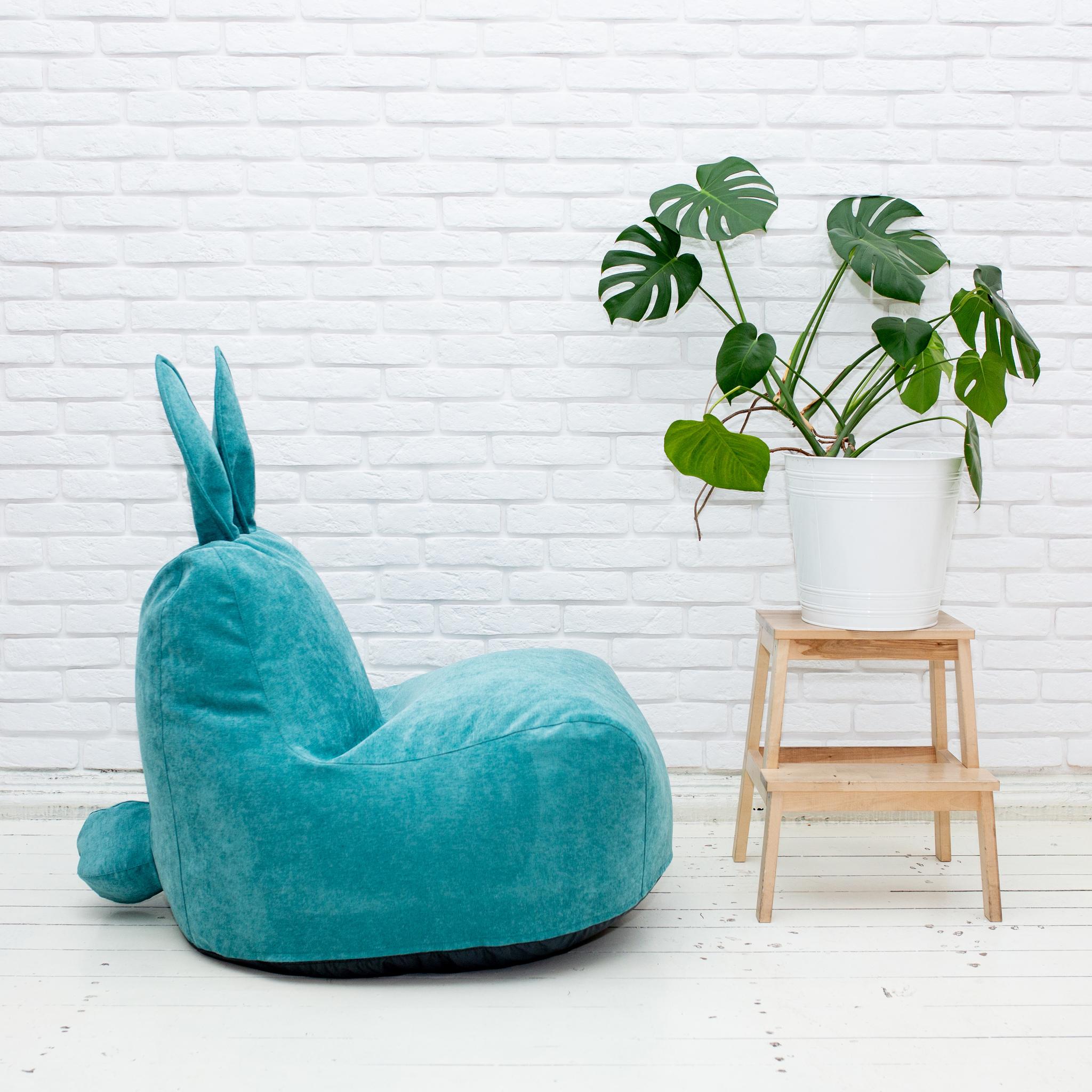 Кролик M микровельвет (грязно-бирюзовый)
