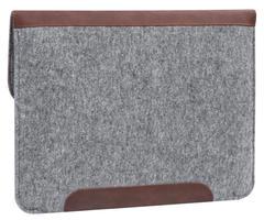Чехол-конверт для Macbook коричневый на кнопках