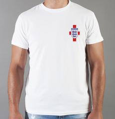 Футболка с принтом FC England (Сборная Англии) белая 006