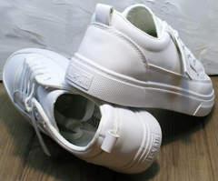 Модные летние туфли кеды женские El Passo 820 All White.