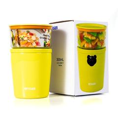 Термос для еды с контейнерами Tiger LCC-A (0,3л + 0,25л) + чехол