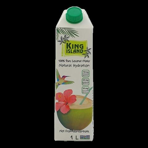 Кокосовая вода без сахара KING ISLAND, 1 литр