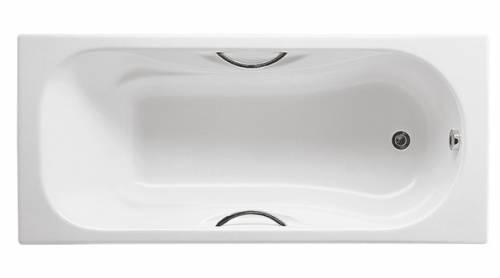 Чугунная ванна Roca Malibu 170x75, с п/ск покрытием, отверстия под ручки