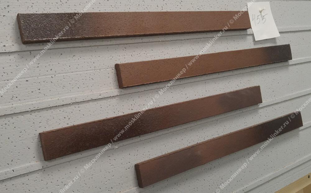 Stroeher - 455 braun-blau, Riegel 50, сверхдлинная, 490x40x14 - Клинкерная плитка для фасада и внутренней отделки