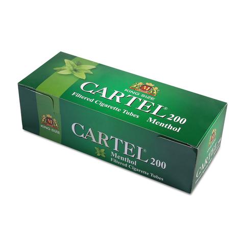 Гильзы для набивки сигарет CARTEL Ментол 200
